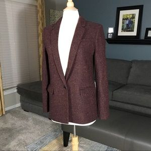 New Banana Republic Wool Blend Boyfriend Blazer